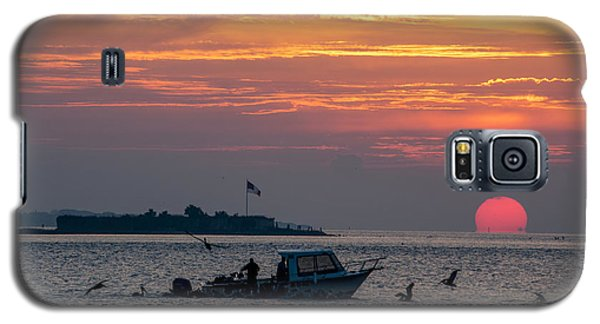 Sun Rise Over Fort Sumter Galaxy S5 Case by Allen Carroll