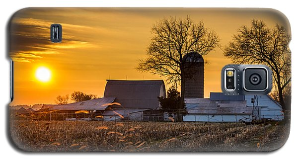 Sun Rise Over The Farm Galaxy S5 Case