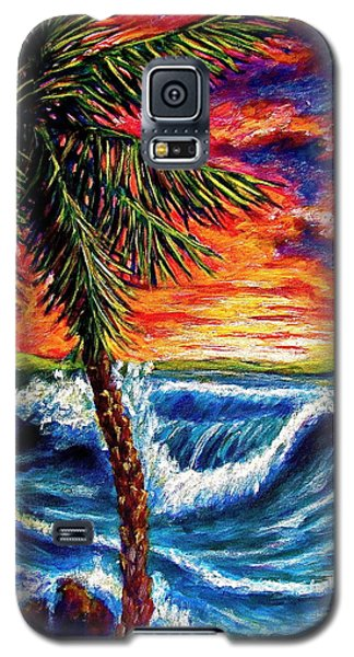 Sun Set Palm Galaxy S5 Case