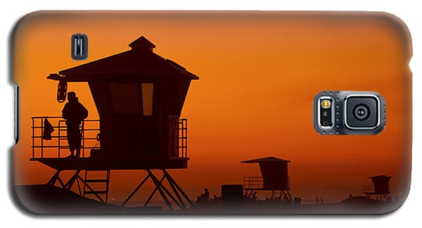 Sun Sets On Huntington Beach Galaxy S5 Case
