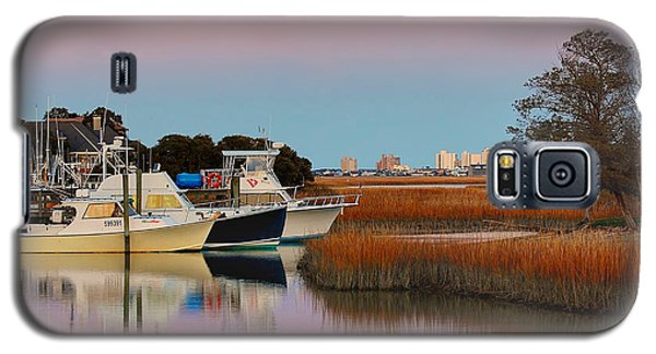 Galaxy S5 Case featuring the photograph Sun Setting At Murrells Inlet by Kathy Baccari