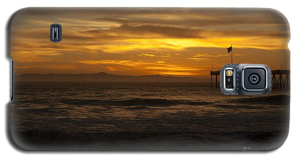 Sun Setting Behind Santa Cruz With Ventura Pier 01-10-2010 Galaxy S5 Case