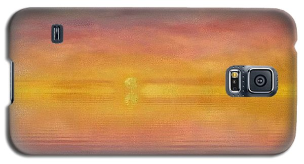 Galaxy S5 Case featuring the painting Sun Tapestry by Holly Martinson