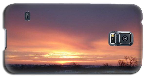 Sun Up In January Galaxy S5 Case by J L Zarek