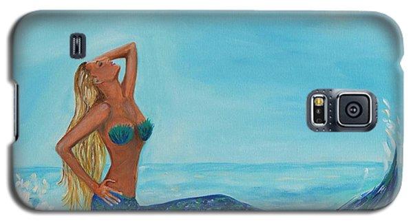 Sunbathing Mermaid Galaxy S5 Case by Leslie Allen