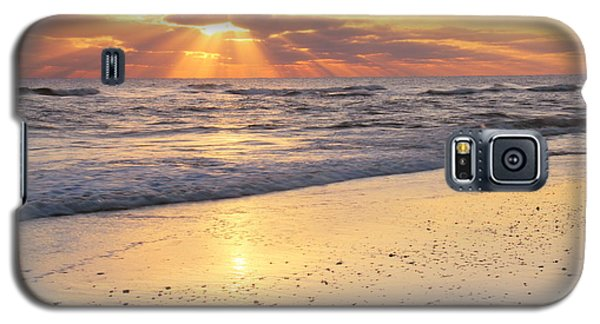 Galaxy S5 Case featuring the photograph Sunbeams On The Beach by Roupen  Baker