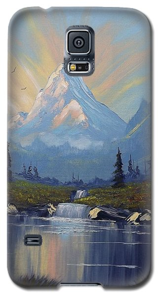 Galaxy S5 Case featuring the painting Sunburst Landscape by Richard Faulkner