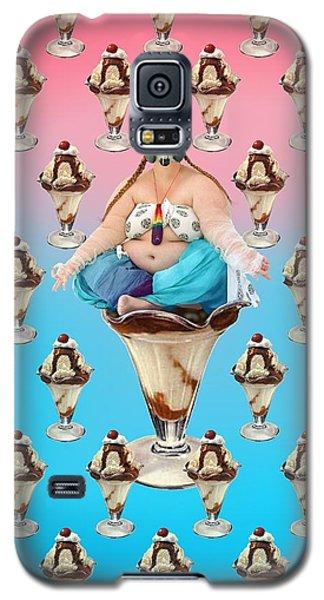 Galaxy S5 Case featuring the digital art Sundae Girl by Scott Ross