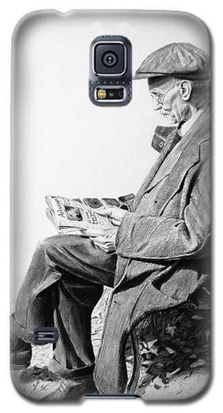 Galaxy S5 Case featuring the painting Sunday Edition by Glenn Beasley