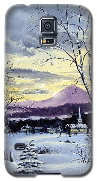 Galaxy S5 Case featuring the painting Sunday In Winter by Lee Piper