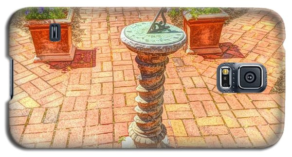 Galaxy S5 Case featuring the photograph Sundial In The Garden by Becky Lupe