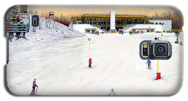 Galaxy S5 Case featuring the painting Sundial Lodge At Nemacolin Woodlands Resort by Albert Puskaric