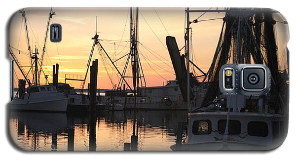 Sundown At Marshallberg Harbor Galaxy S5 Case