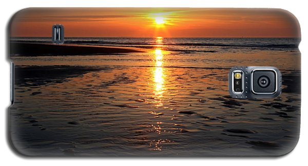 Galaxy S5 Case featuring the photograph Sundown At The North Sea by Annie Snel