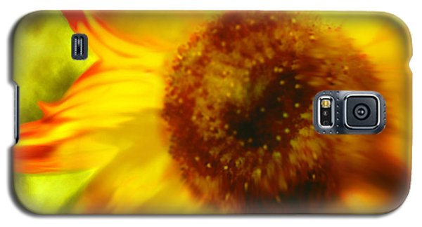 Galaxy S5 Case featuring the digital art Sunflower-a-blaze by Janie Johnson
