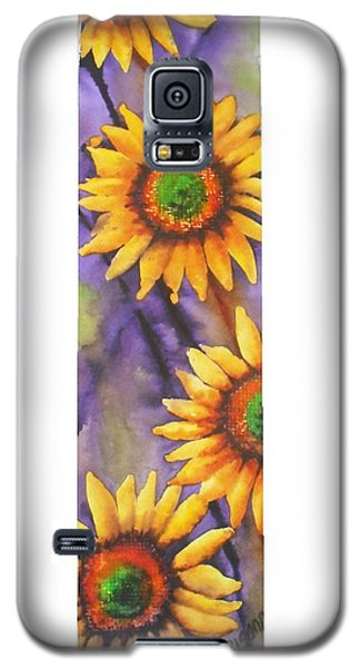 Galaxy S5 Case featuring the painting Sunflower Abstract  by Chrisann Ellis