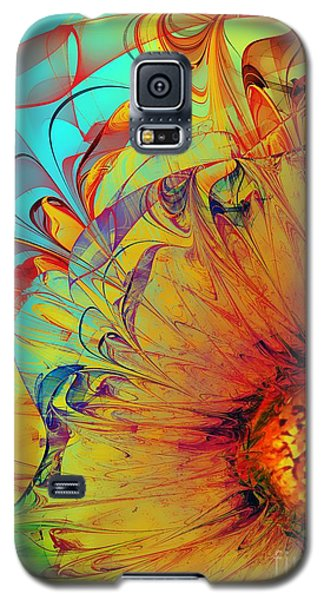 Sunflower Abstract Galaxy S5 Case by Klara Acel