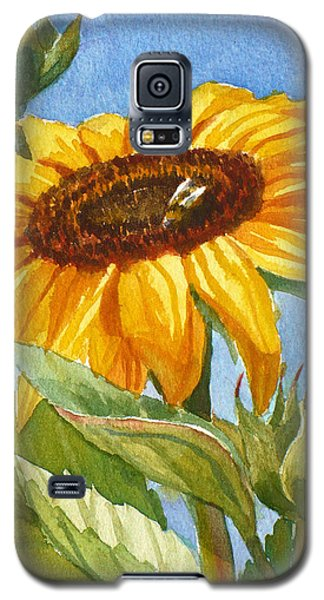 Sunflower And Honey Bee Galaxy S5 Case