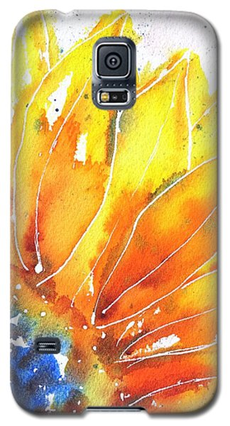 Sunflower Blue Orange And Yellow Galaxy S5 Case