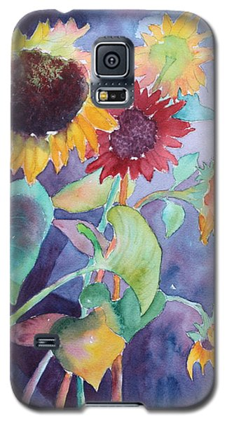 Galaxy S5 Case featuring the painting Sunflower Color by Nancy Jolley
