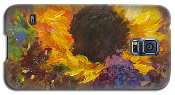 Sunflower Dance Original Painting Impressionist Galaxy S5 Case