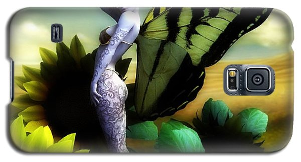 Galaxy S5 Case featuring the digital art Sunflower Fairy by Sandra Bauser Digital Art