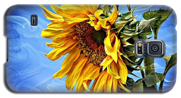 Galaxy S5 Case featuring the photograph Sunflower Fantasy by Barbara Chichester