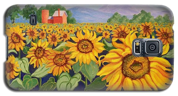 Sunflower Farm Galaxy S5 Case