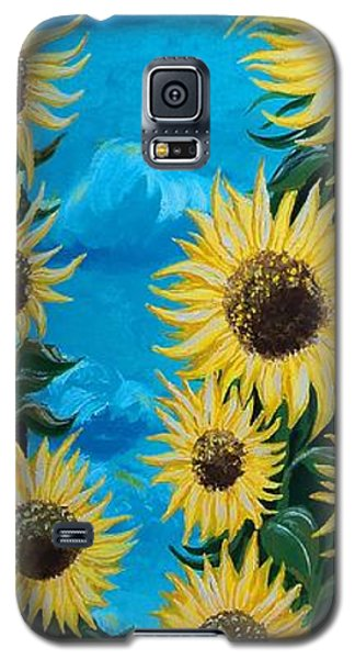 Sunflower Fun Galaxy S5 Case