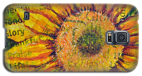 Sunflower Glory Galaxy S5 Case by Lisa Fiedler Jaworski