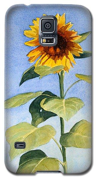 Galaxy S5 Case featuring the painting Sunflower II by Vikki Bouffard