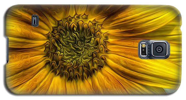 Sunflower In Oil Paint Galaxy S5 Case