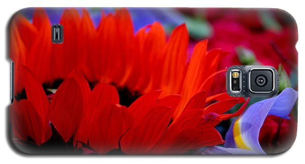 Sunflower Iris Love Galaxy S5 Case by Jeanette French