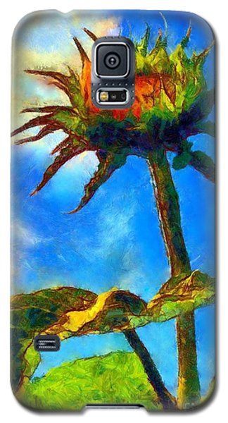 Sunflower - It's A Glorious Day She Said. Galaxy S5 Case by Janine Riley