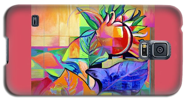 Galaxy S5 Case featuring the painting Sunflower by Jodie Marie Anne Richardson Traugott          aka jm-ART