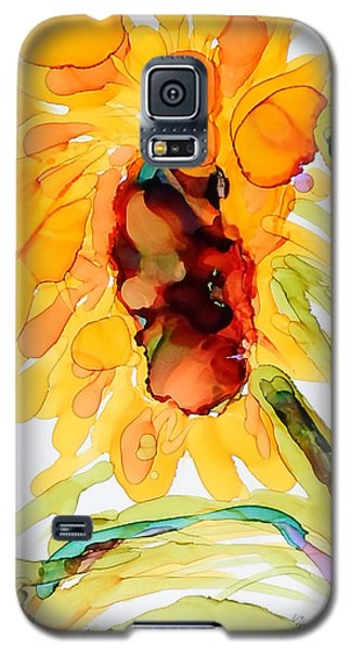 Sunflower Left Face Galaxy S5 Case by Vicki  Housel