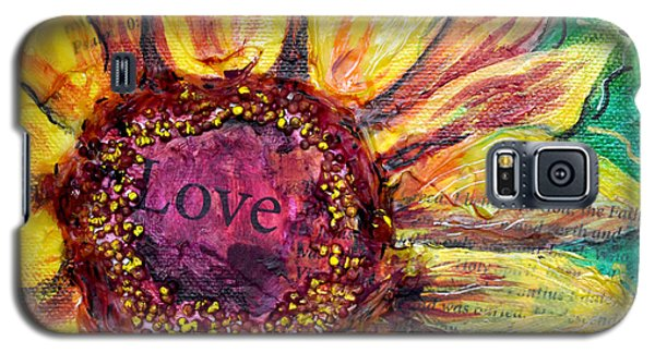 Sunflower Love  Galaxy S5 Case by Lisa Fiedler Jaworski