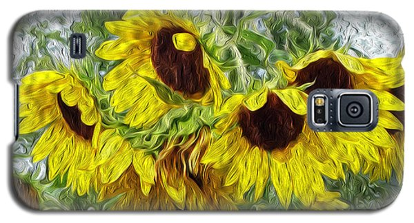 Galaxy S5 Case featuring the photograph Sunflower Morn II by Ecinja Art Works