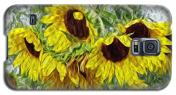 Sunflower Morn II Galaxy S5 Case by Ecinja Art Works