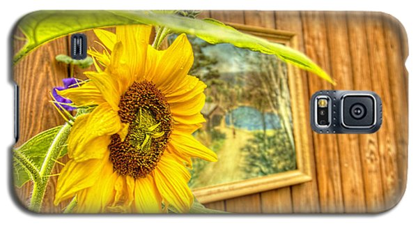 Galaxy S5 Case featuring the photograph Sunflower On A Fence by Jim Lepard