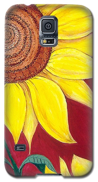 Sunflower On Red Galaxy S5 Case