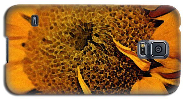 Galaxy S5 Case featuring the photograph Sunflower Painting by Ellen Tully
