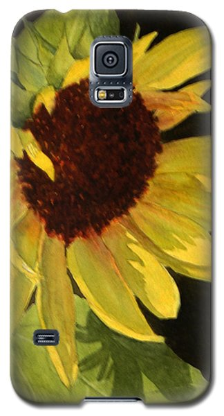 Galaxy S5 Case featuring the painting Sunflower Smile by Vikki Bouffard