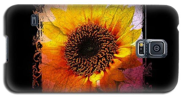 Galaxy S5 Case featuring the digital art Sunflower Sunset - Art Nouveau  by Absinthe Art By Michelle LeAnn Scott