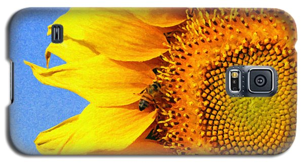 Sunflower With Bee Galaxy S5 Case