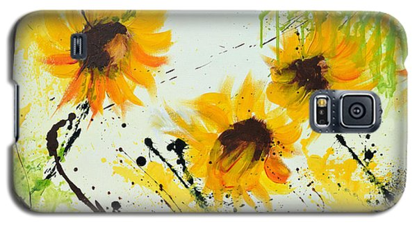 Sunflowers - Abstract Painting Galaxy S5 Case