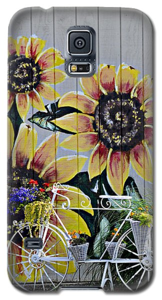Sunflowers And Bicycle Galaxy S5 Case