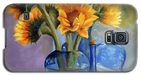 Sunflowers And Blue Bottles Galaxy S5 Case