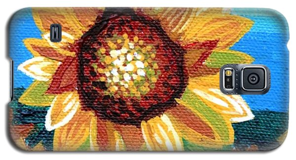 Sunflowers And Blue Sky Galaxy S5 Case by Genevieve Esson
