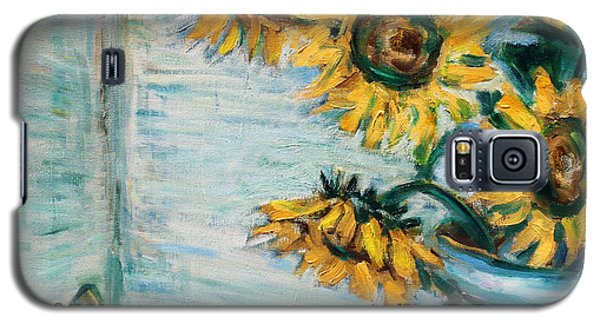 Sunflowers And Frog Galaxy S5 Case by Xueling Zou
